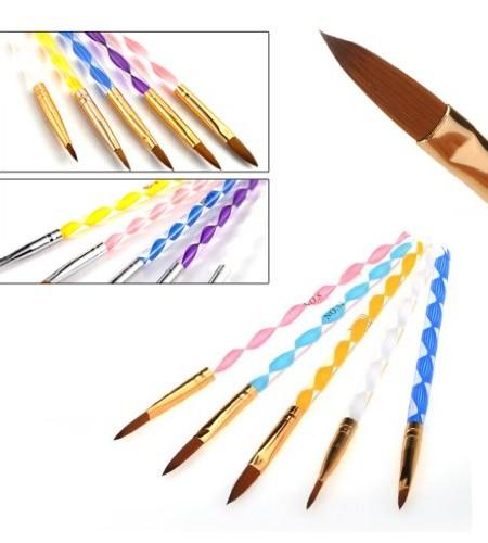 5X-Gre-Acryl-Gel-nagel-Pinsel-set-Set-Nail-Art-NEU-nagel-stift-0