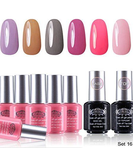 Perfect-Summer-UV-LED-Gel-auflsbarer-Nagellack-6-Farben-Serie-1-Base-Coat-Top-Coat-french-manicure-kit-starter-gelngel-8-x-8ml-Set-016-0