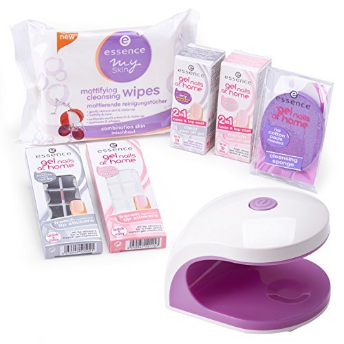 essence gel nails at home set uv led lampe gel primer cleanser korrekturstift french. Black Bedroom Furniture Sets. Home Design Ideas